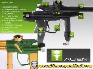 Alien Independance green gold