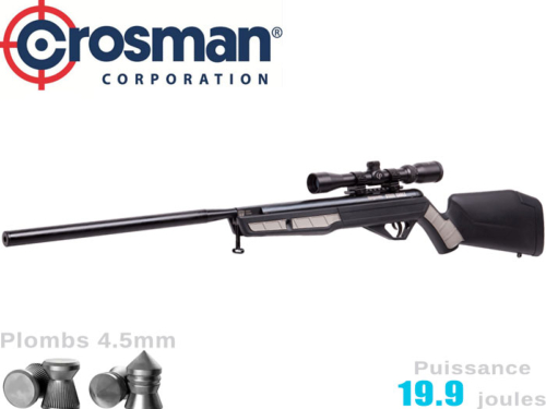 Carabine à plombs Crosman Jim Shockey Steel Eagle Nitro Piston 2 5.5mm 19.9j  + lunette 3-9x40