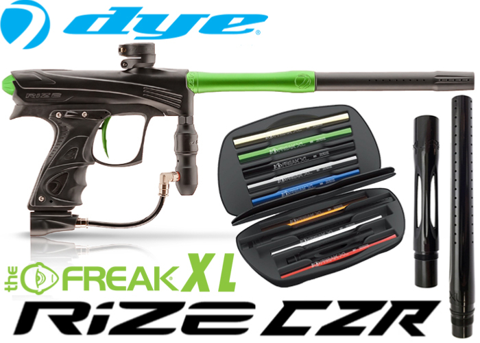 Dye Rize CZR Total Freak XL - black lime