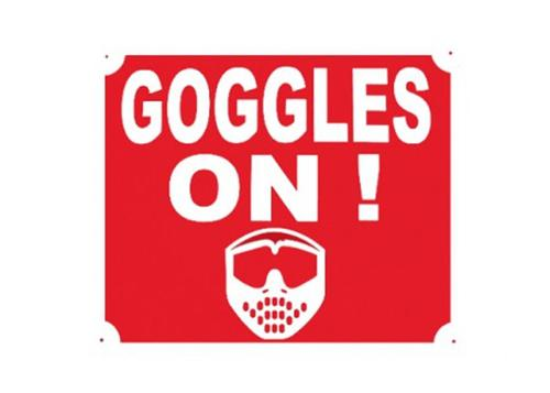 "Panneau ""goggles on"""