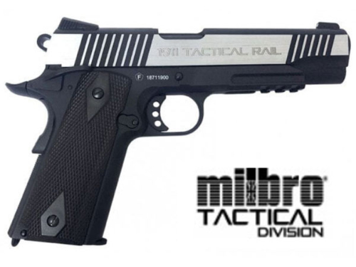 Réplique Airsoft Milbro 1911 Rail Dual Tone GBB Co2