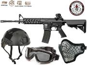 Full Package Airsoft CM16 Raider Black L