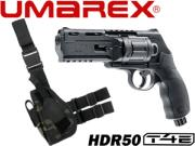 Umarex Walther HDR T4E .50 cal - 7.5 joules + holster de cuisse MC black