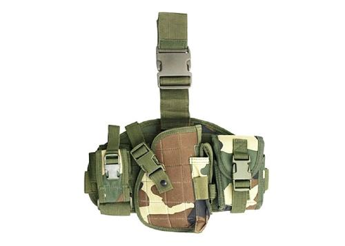Tactical Molle Leg holster - Woodland
