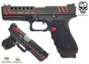 Réplique airsoft S17 ACP Scorpion Black GBB Dual power Co2/Gaz