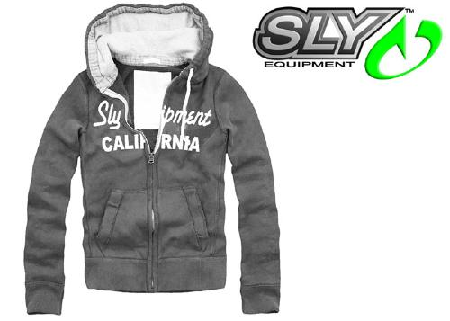 Sweat-shirt à capuche Sly California Charcoal taille S