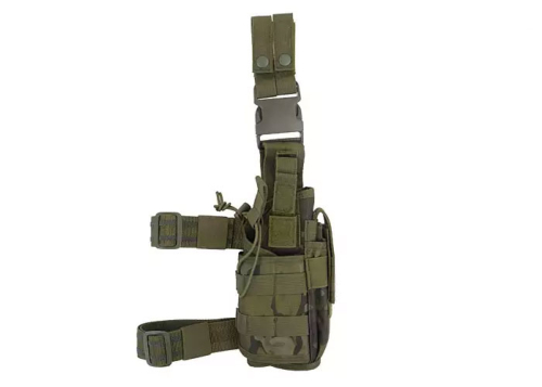 Holster de cuisse tactical Modulaire - woodland droitier 2