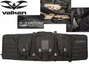 Valken Tactical double rifle gun case - black
