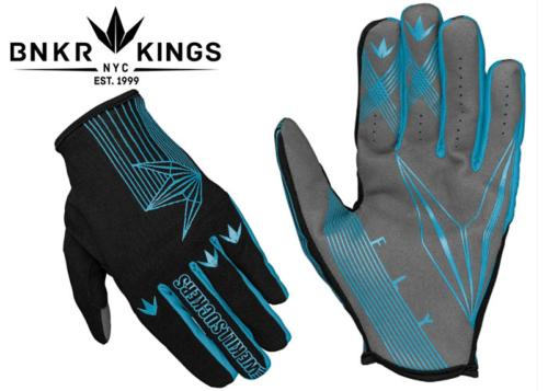 Gants Bunkerkings Fly - Cyan - S/M