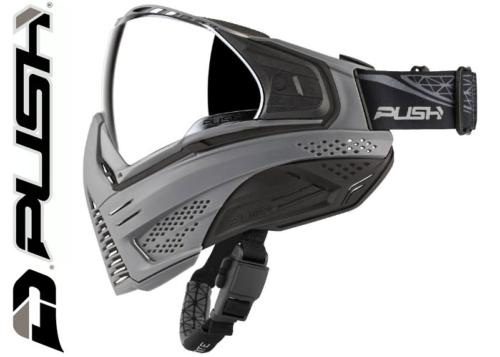 Masque Paintball Push Unite - grey black