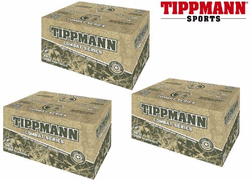 Lot de 3 cartons de 2000 billes Tippmann Combat