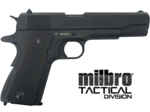Réplique Airsoft Milbro 1911 Classic Black GBB Co2