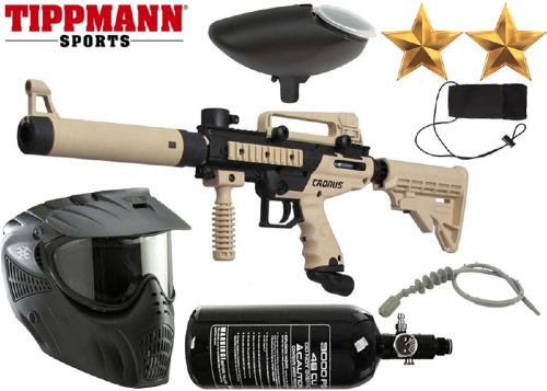 Pack Tippmann Cronus Tactical black/tan air comprimé