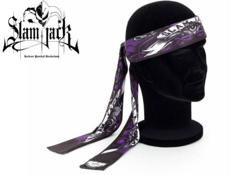 Head Band Slam Jack Black Roses purple