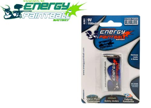 1 pile 9V Energy Paintball