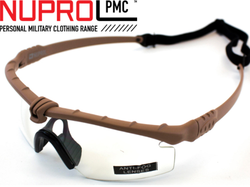 Lunettes Airsoft Nuprol Battle Pro Thermal - tan clear