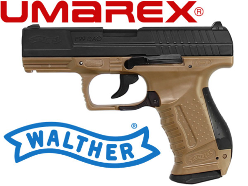 Réplique Airsoft Walther P99 DAO tan GBB Co2