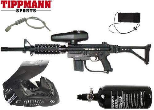 Pack Tippmann A5 Shield air comprimé + 500 billes offertes