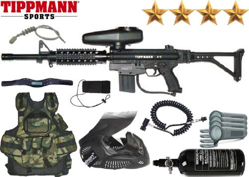Battle Pack Tippmann A5 Shield air comprimé + 500 billes offertes