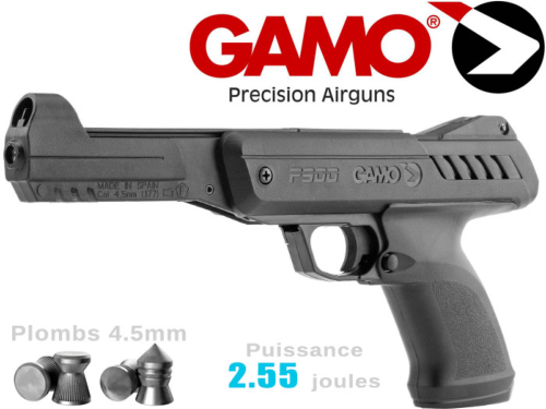Pistolet plombs air comprimé 4.5mm Gamo P-900 2.55j