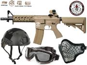 Full Package Airsoft CM16 Raider Tan court