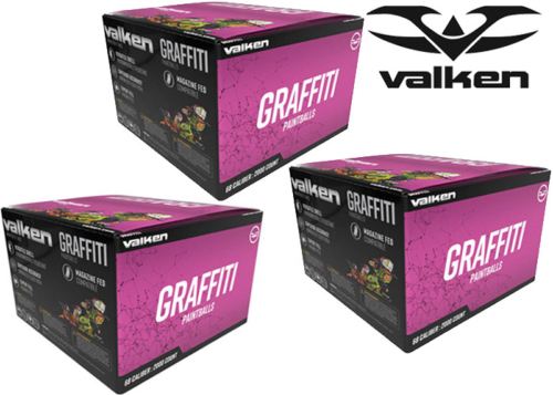 Lot de 3 cartons de 2000 billes Valken Graffiti