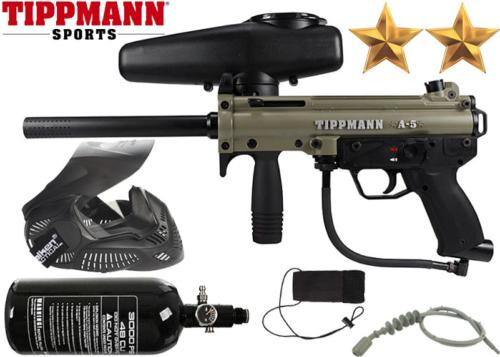Pack Tippmann A5 Dark Earth air comprimé