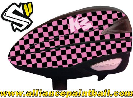 Style-Supply Rotor wrap Checkerboard pink