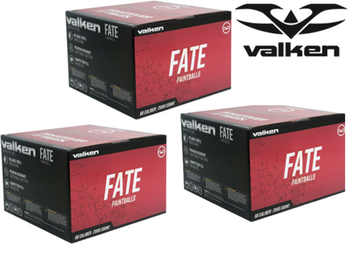 Lot de 3 cartons de 2000 billes Valken Fate