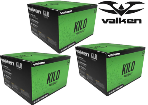 Lot de 3 cartons de 2000 billes Valken Kilo Winter Formula