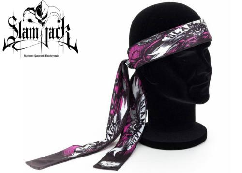 Head Band Slam Jack Black Roses pink