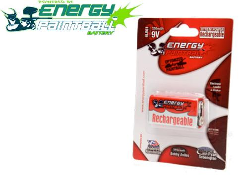 Pile 9V rechargeable Energy Paintball