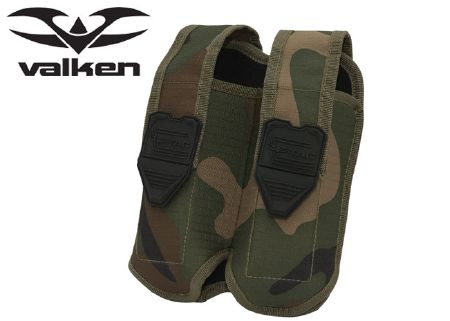 Valken 2 magazines pouch side by side Woodland