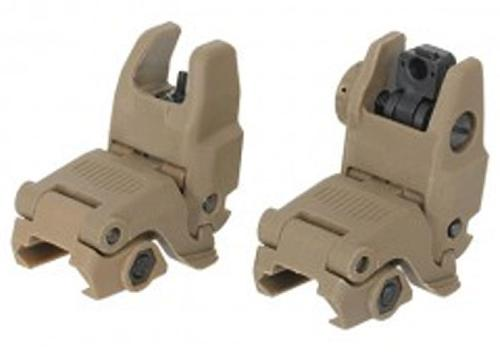 Folding rear and Front sight - tan