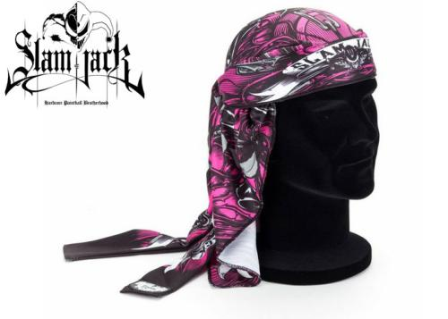 Head Wrap Slam Jack Black Roses pink