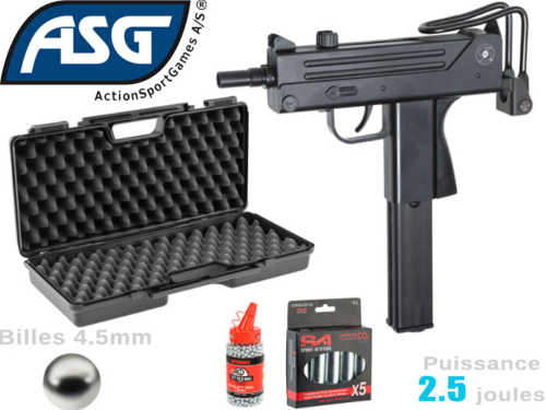 Airgun ASG Pack Cobray Ingram M11 4.5mm Co2 2.5j
