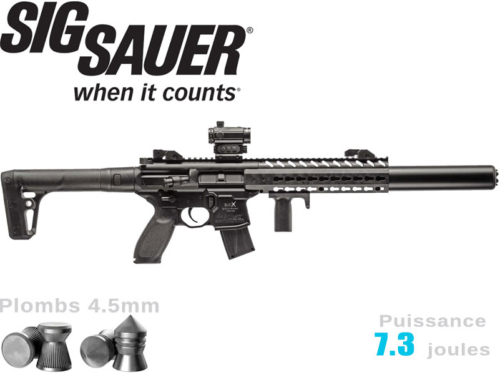 Carabine à plombs Sig Sauer MCX 4.5mm Co2 7.3j