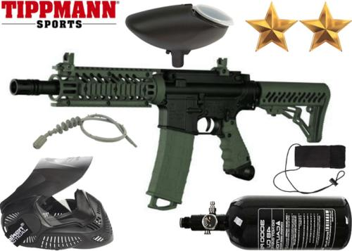 Pack Tippmann TMC black olive air comprimé