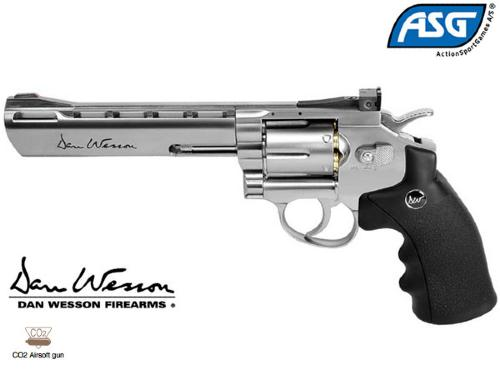 "Réplique Airsoft Dan Wesson 6"" silver Co2"