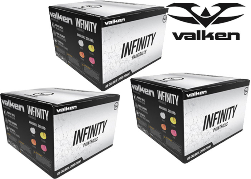 Lot de 3 cartons de 2000 billes Valken Infinity