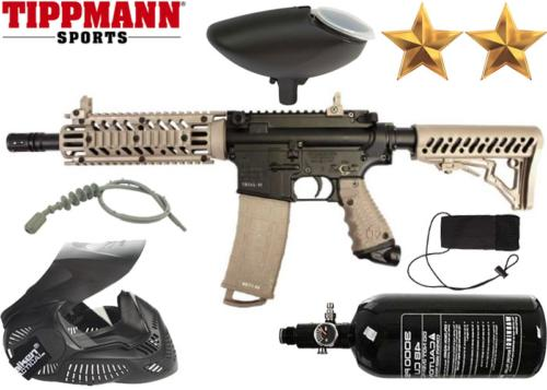 Pack Tippmann TMC black tan air comprimé