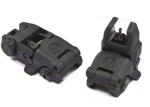 Folding rear and Front sight - black