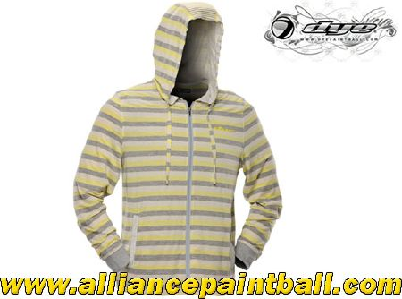 Sweat-shirt à capuche Dye Stripes yellow taille M