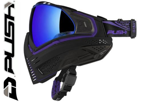 Masque Paintball Push Unite - black purple