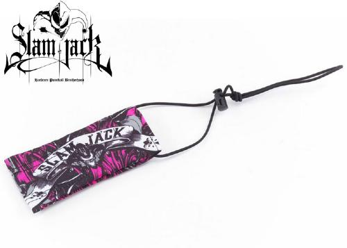 Slam Jack barrel cover Black Roses pink