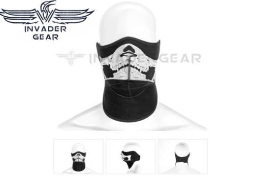 Neoprene Face Protector Invader Gear - black skull