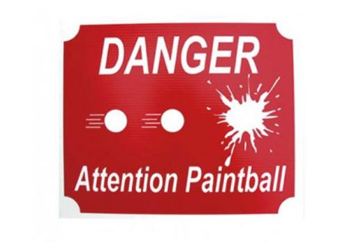 "Panneau ""danger, attention paintball"""