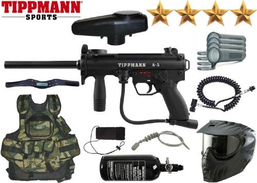 Battle Pack Tippmann A5 E-Grip air comprimé + 500 billes offertes