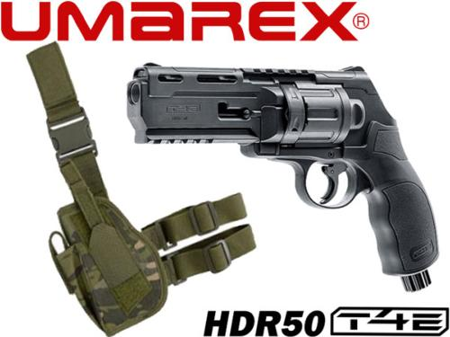 Umarex Walther HDR T4E .50 cal - 7.5 joules + holster de cuisse MC jungle