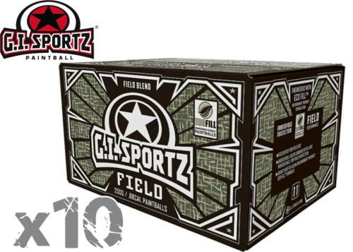 Lot de 10 cartons de 2000 billes billes GI Sportz Field